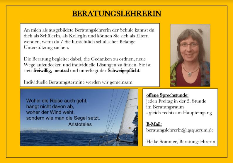 Beratungslehrerin Heike Sommer